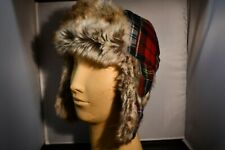 Gap Plaid Faux Fur Warm Winter Trapper Kids Hat Size L/Xl