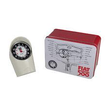 Original Fiat 500 Mopar Merchandise Wecker Uhr Retro Tacho Wecker Deko Weiß