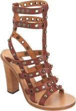 $1115 NEW ISABEL MARANT LUCIE Studded Leather SANDALS Brown Sz 37