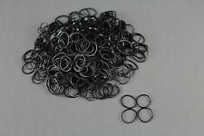 Black Set pack 1800 small tiny mini hair ties elastics rubber bands girl braid