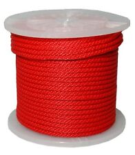 "3/8"" By 300Feet Solid Braid Propylene Multifilament Derby Rope Red"
