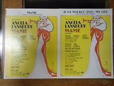 "Sheet Music x 2 ""If He Walked Into My Life"" & ""Mame"" Angela Lansbury 1966 nice"