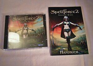 """04 217 PC Spiel """"Spell Force 2 Shadow Wars+Handbuch"""",ab 12 Jahren"""