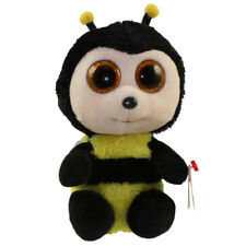 "Ty Beanie Boos 6"" BUZBY the Bumble Bee Stuffed Animal Plush MWMT's w/ Heart Tags"