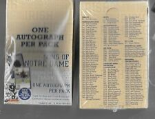 Factory sealed box TK Legacy Notre Dame football cards 8 autographs per box
