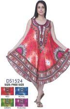LADIES NEW  SUMMER FLORAL PRINT BOHO HIPPI KAFTAN TUNIC DRESS  12 14 16 18 20 24