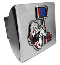 harley quinn emblem dc comics chrome trailer hitch cover usa made