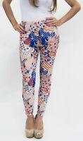 USA Patriotic American flag, Stars & Stripes women cotton stretch leggings