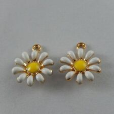 50992 Multi Color Alloy Tiny Sun Flower Shape Enamel Crafts Charms Jewelry 29x