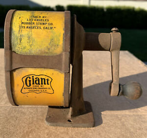 Vintage Pencil Sharpener Early 1920s Giant Automatic Pencil Sharpener Company
