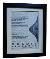 GOLDIE+Timeless+POSTER+AD+RARE ORIGINAL 1995+QUALITY FRAMED+EXPRESS GLOBAL SHIP