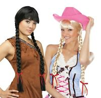 Adult Native American Indian Pocahontas Long Classic Braids Costume Wig