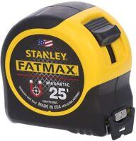 Stanley Fat Max Magnetic Tape Measure 25 ft Measuring Tool Roll Ruler Lock