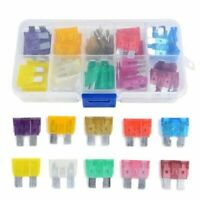 50x/Set Mixed Medium Standard Blade Fuse Car Auto Assorted Fuse Kit 3A~40A &Case