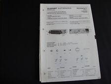 Original Service Manual Blaupunkt  Autoradio Nürnberg K