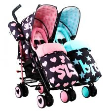 COSATTO TWIN PUSHCHAIR/STROLLER SUPA DUPA - SIS & BRO - NEW