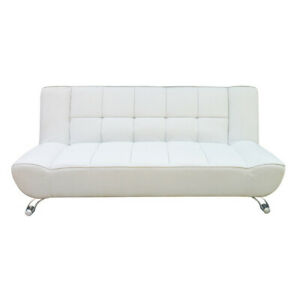 Futon Sofa Bed - White