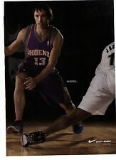 "2007 Nike Steve Nash ""Zoom BB""  ""Quick is Deadly"" Basketball  Shoe Print Ad"