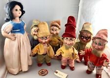 "15"" Antique American Composition Disney's Snow White & the 7 Drawfs Dolls! Rare!"