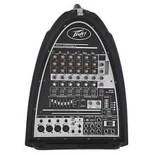 Peavey PVI Portable PA System 8 Channel Mixer Passive Speaker Package 300 W