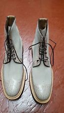 NWB $2500 AMEDEO TESTONI NORWEGIAN CONST. WINGTIP LACE UP BOOTS 10.5