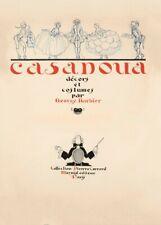 Casanova, décors et costumes, 1921, GEORGE BARBIER Art Deco Poster