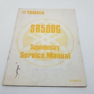 Yamaha Motorbike SR500G Supplementary Service Manual 1st ed March 1980