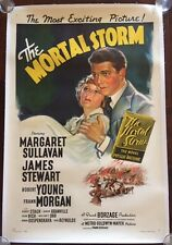 THE MORTAL STORM - ORIGINAL 1940 ONE SHEET LB POSTER - JAMES STEWART PRE WW2