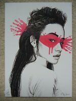 Fin Dac Signed + ed100 'Shinoya' Postcard Print (+banksy pejac dran stik photos)