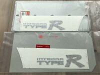 OEM Honda 94-01 Integra Acura DB8 DC2 TYPE-R Sticker Decal Set Right & Left