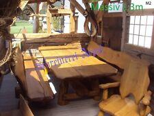 Möbel  Massivholz Terrassenmöbel Sitzgarnitur Sitzgruppe Eiche