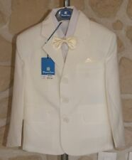 Costume complet avec chemise, ivoire taille 4 ans marque Pomme Carré