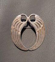 Vintage silver tone Angel Wings Brooch Pin