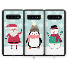 Samsung Galaxy S10 Plus 5G S9 S8 Phone Case Father Christmas Santa Xmas Snowman