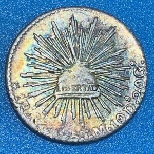1825 Mexico 1 Real 0.903 Silver Coin