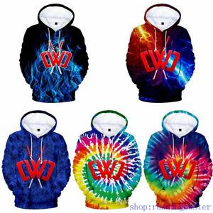 Kids Adult 3D Chad Wild Clay Hoodies Sweatshirt  Hooded Top Pullover Jumper UK