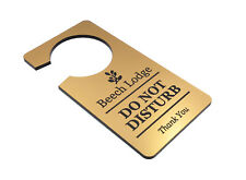 Personalised Gold 'Do Not Disturb' Room Door Sign - for Hotels, Guest Houses