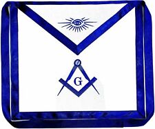 Masonic Square & Compass Cotton Embroidered Fraternity Apron Blue Lodge DMA-1000