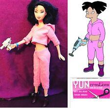 Amy Wong Futurama Barbie Doll OOAK Handmade Collectors Artist Repaint FREE Shipp