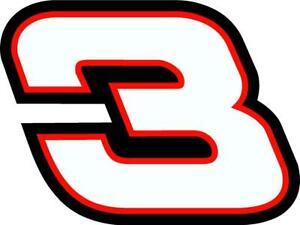 NEW FOR 2021 - #3 Austin Dillon Racing Sticker Decal - SM thru XL -Various color