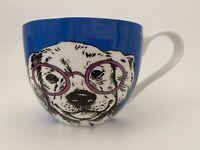 Portobello By Design Puppy Dog Glasses Coffee Mug Tea Cup England 16 Oz