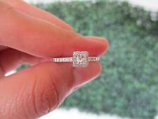 .66 CTW Diamond Engagement Ring 14K White Gold ER407 sep