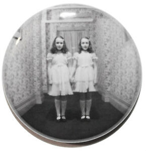 """1"""" (25mm) The Shining 'Twins' 1980 Horror Movie Button Badge Pin - High Quality"""