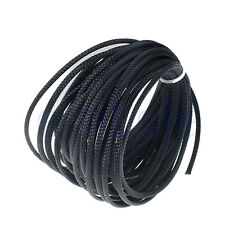 10m 4mm Expandable PET Braided Cable Wire Sleeving High Density Black H5