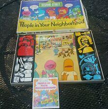 Sesame Street People In Your Neighborhood Colorforms Play Set Jim Henson 1972