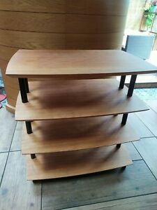 HI-FI UNIT. Beech wood effect finish. Made in UK