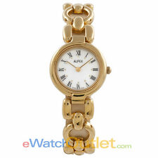Alfex Ladies Gold Plated Watch Interchangeable Straps