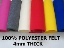 FELT FABRIC 4mm thick 100cm wide sold by metre BRIGHT YELLOW