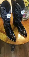 Men's Wild West Real Genuine eel Skin J Toe Western Cowboy Boots