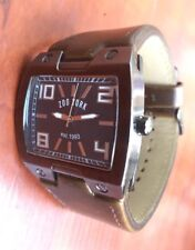 Zoo York Men Skater Surf Square Watch Brown Gray Need Battery / Cleaning ZY1001